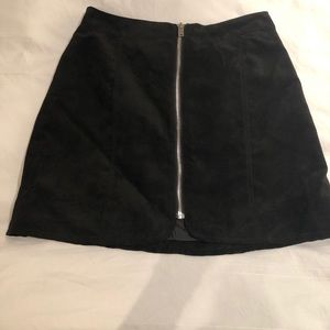 NWT H&M DIVIDED Suede Zip Mini Skirt